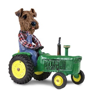 Airedale Tractor Doogie Collectable Figurine