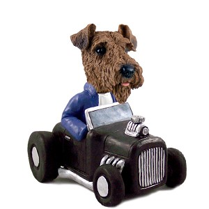 Airedale Hot Rod Doogie Collectable Figurine