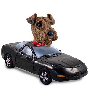 Airedale Sports Car Doogie Collectable Figurine