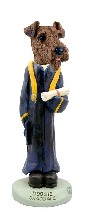 Airedale Graduate Doogie Collectable Figurine