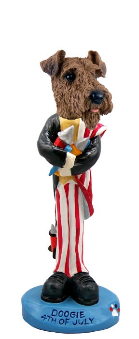 Airedale 4th of July Doogie Collectable Figurine