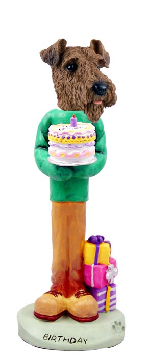 Airedale Birthday Doogie Collectable Figurine