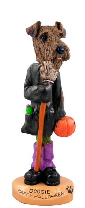 Airedale Happy Halloween Doogie Collectable Figurine
