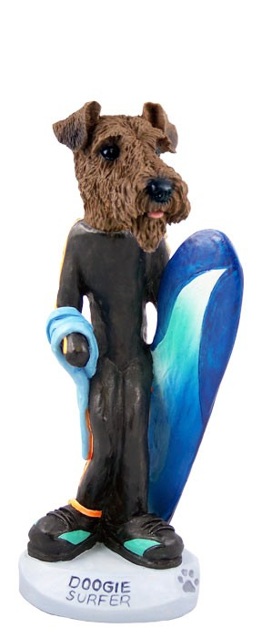 Airedale Surfer Doogie Collectable Figurine