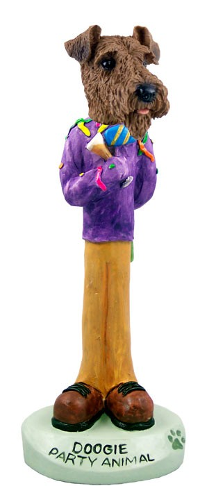 Airedale Party Animal Doogie Collectable Figurine