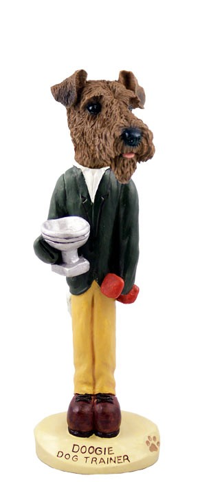 Airedale Dog Trainer Doogie Collectable Figurine