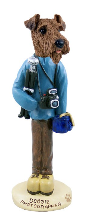 Airedale Photographer Doogie Collectable Figurine