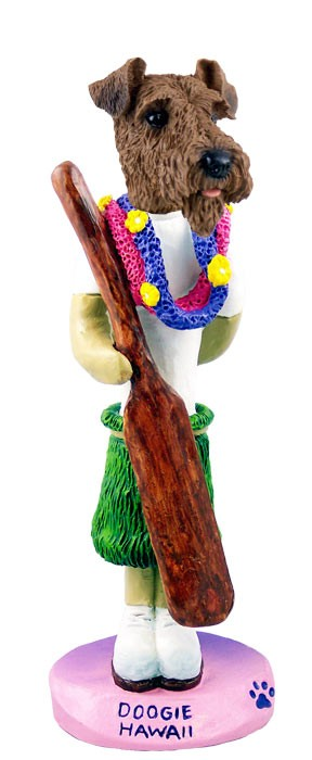 Airedale Hawaii Doogie Collectable Figurine