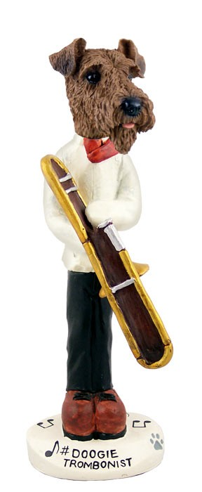 Airedale Trombonist Doogie Collectable Figurine