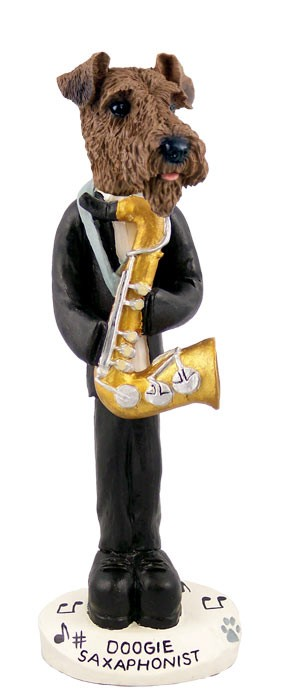 Airedale Saxophonist Doogie Collectable Figurine