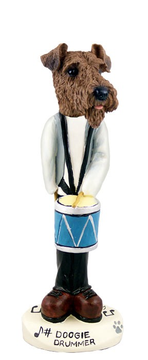Airedale Drummer Doogie Collectable Figurine