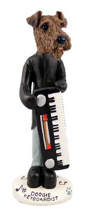 Airedale Keyboardist Doogie Collectable Figurine