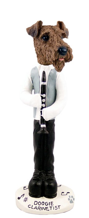 Airedale Clarinetist Doogie Collectable Figurine