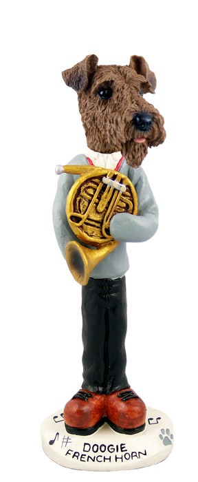 Airedale French Horn Doogie Collectable Figurine