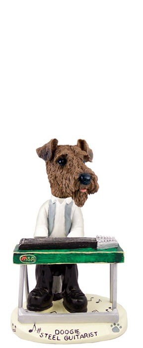 Airedale Steel Guitarist Doogie Collectable Figurine