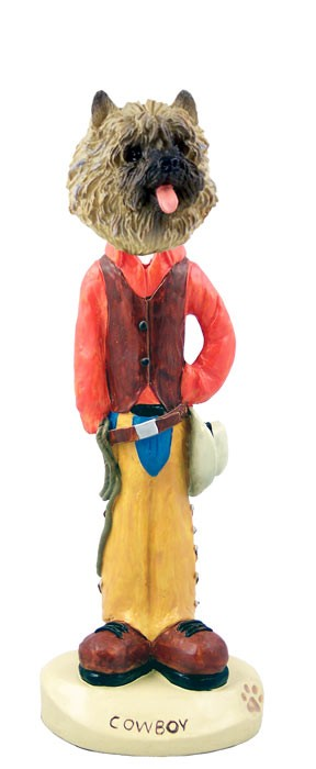Cairn Terrier Red Cowboy Doogie Collectable Figurine