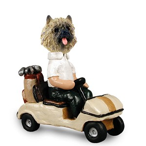 Cairn Terrier Red Golf Cart Doogie Collectable Figurine