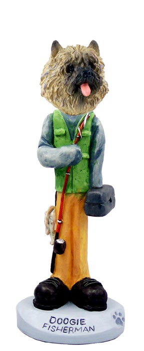 Cairn Terrier Red Fisherman Doogie Collectable Figurine