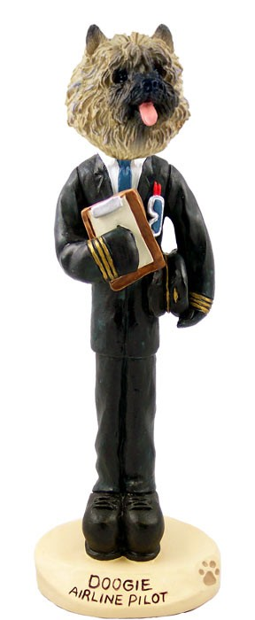Cairn Terrier Red Airline Pilot Doogie Collectable Figurine