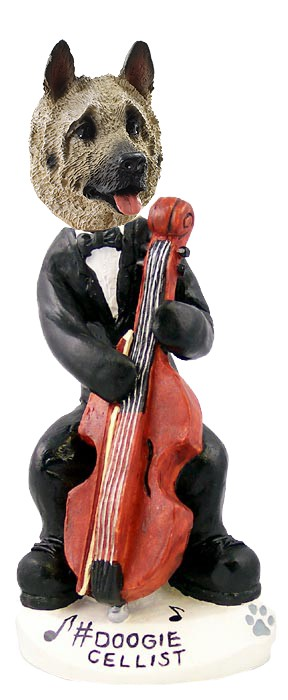 Akita Fawn Cellist Doogie Collectable Figurine