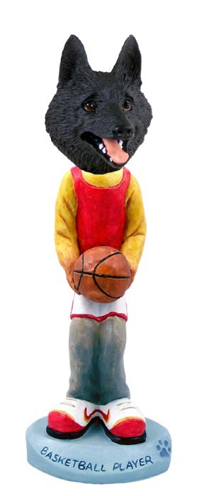 Schipperke Basketball Doogie Collectable Figurine