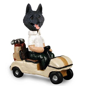 Schipperke Golf Cart Doogie Collectable Figurine