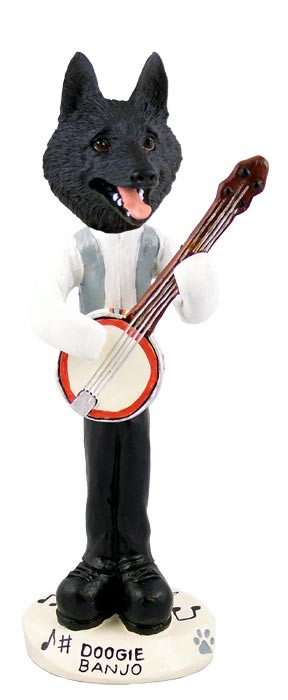 Schipperke Banjo Doogie Collectable Figurine