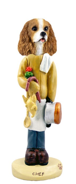 Cavalier King Charles Spaniel Brown & White Chef Doogie Collectable Figurine