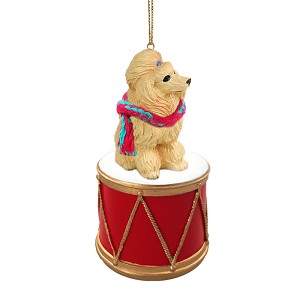 Poodle Apricot Drum Ornament