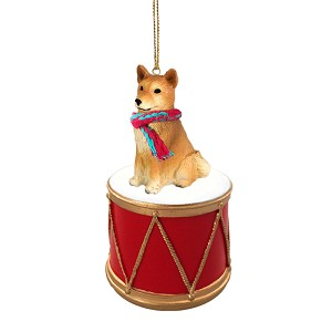 Finnish Spitz Drum Ornament