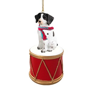 Brittany Liver & White Spaniel Drum Ornament