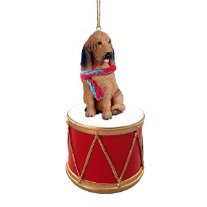 Bloodhound Drum Ornament
