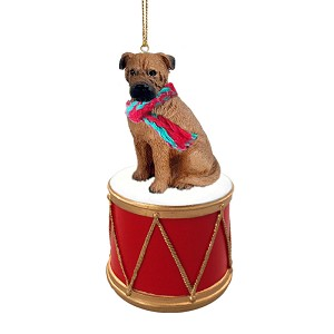 Bullmastiff Drum Ornament