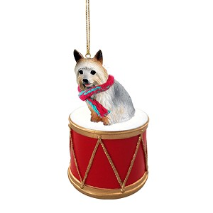 Silky Terrier Drum Ornament