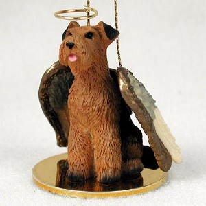 Airedale Pet Angel Ornament