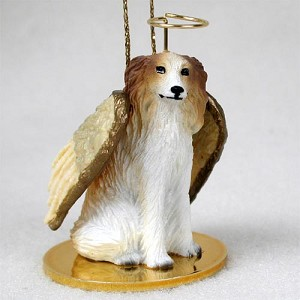 Borzoi Pet Angel Ornament
