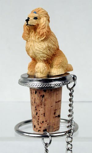 Poodle Apricot Bottle Stopper