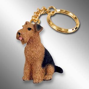 Airedale Key Chain