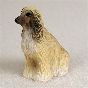 Afghan Tan & White Tiny One Figurine