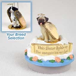 Brittany Liver & White Spaniel Candle Topper Tiny One Pet Angel Ornament
