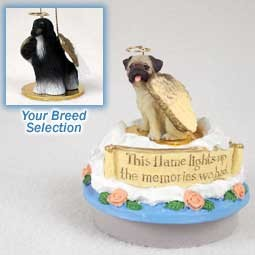 Afghan Black & White Candle Topper Tiny One Pet Angel Ornament Candle