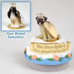 Afghan Tan & White Candle Topper Tiny One Pet Angel Ornament