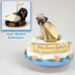 Dachshund Longhaired Black Candle Topper Tiny One Pet Angel Ornament