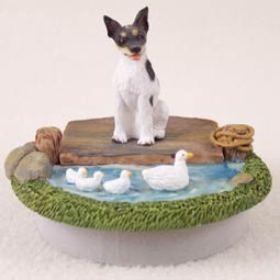 "Rat Terrier Candle Topper Tiny One ""A Day on the Lake"""