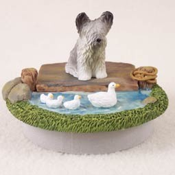 "Skye Terrier Candle Topper Tiny One ""A Day on the Lake"""