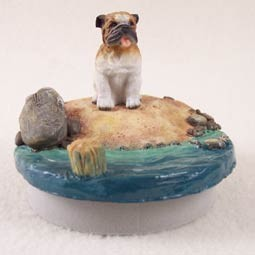 "Bulldog Candle Topper Tiny One ""A Day on the Beach"""