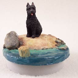 "Bouvier des Flandres Candle Topper Tiny One ""A Day on the Beach"""
