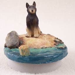 "Belgian Tervuren Candle Topper Tiny One ""A Day on the Beach"""