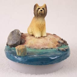 "Briard Candle Topper Tiny One ""A Day on the Beach"""