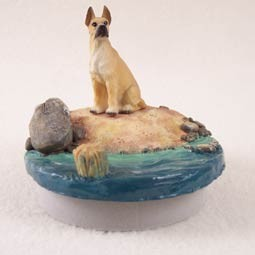"Great Dane Fawn Candle Topper Tiny One ""A Day on the Beach"""